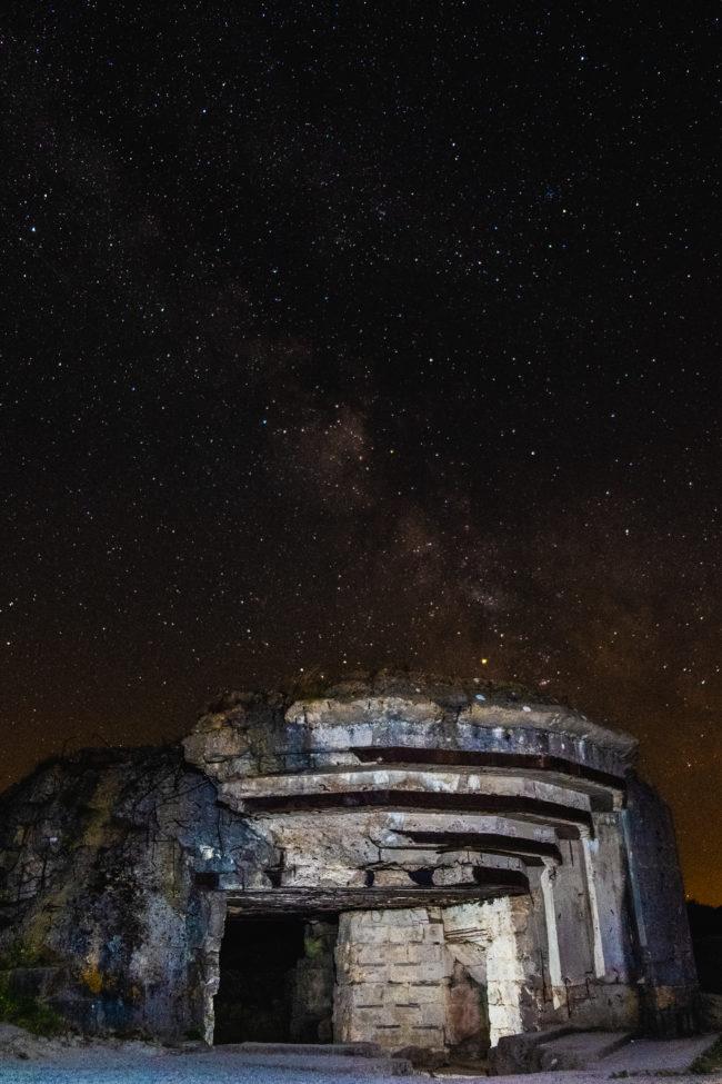 Nightscape over the Pointe du Hoc
